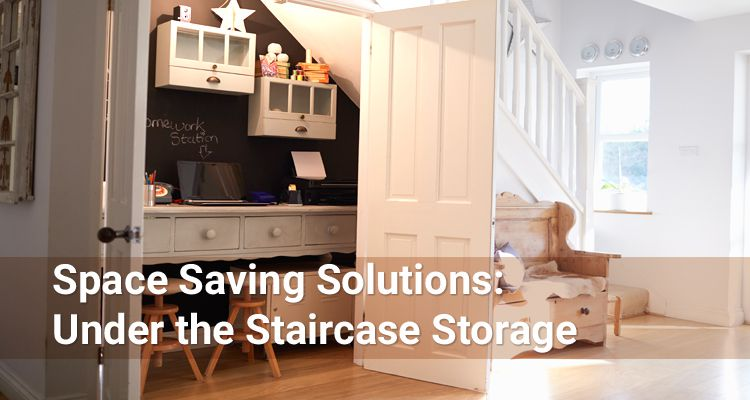 Under the staircase storage ideas from Accuride