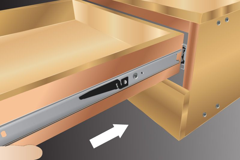 install-drawer-into-cabinet-member
