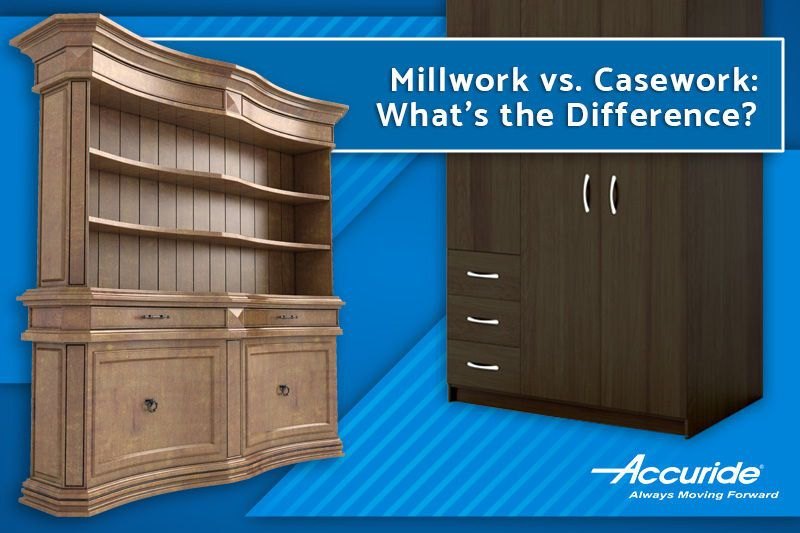 What is the difference between Mill work and Casework carpentry