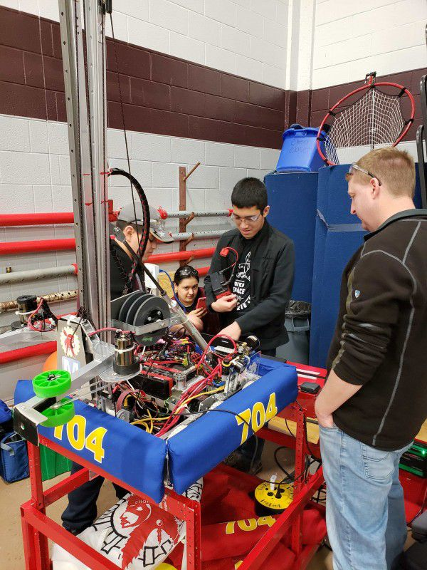The South Grand Prairie High School Robotics Team is based in Texas, between Dallas and Arlington. The team's robot was tasked with simulating retrieval and deposits akin to a planet rover.