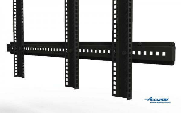 A mid-rail supports less common mounting points, such as those found in custom enclosures.