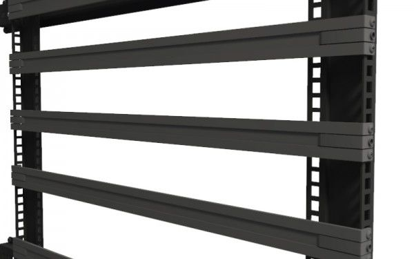 Rails can be adjustable or non-adjustable. The above example is non-adjustable.